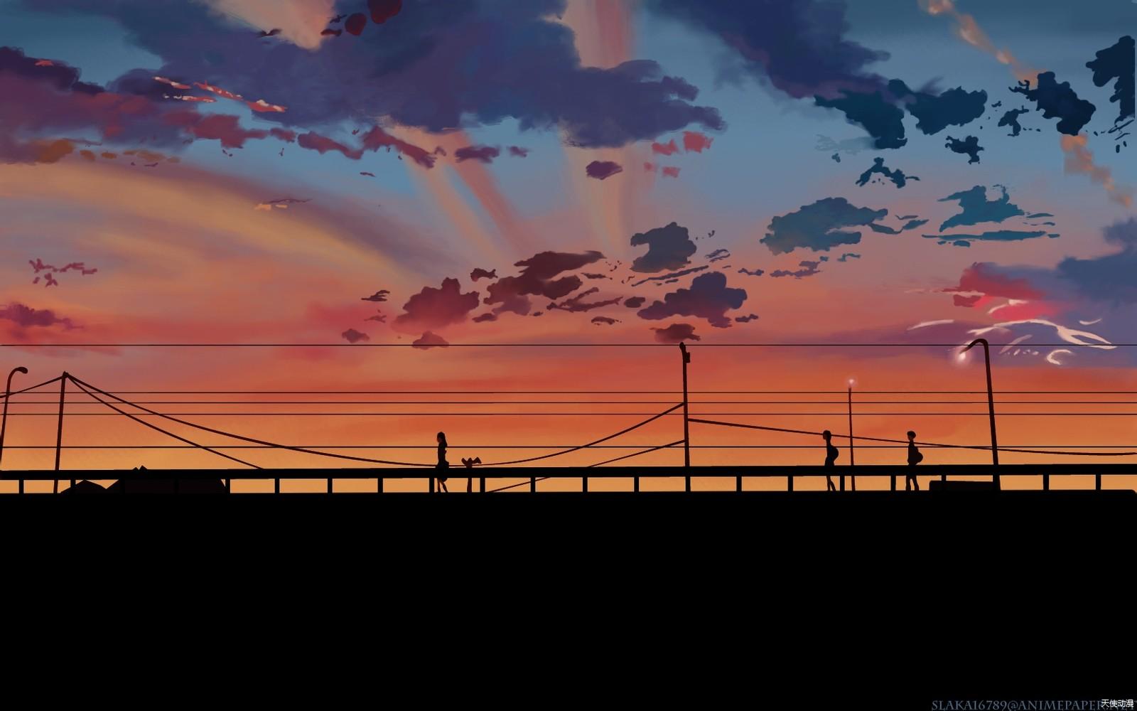 动漫风景壁纸 - 美图收集